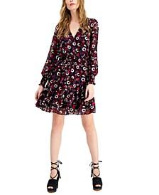 Psych Garden Wrap-Style Dress