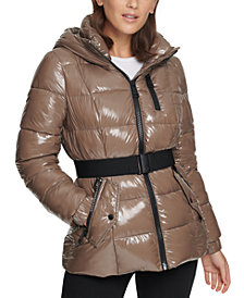 Calvin Klein Shine Hooded Puffer Coat