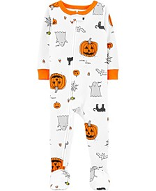 Toddler Boy & Girl 1-Piece Halloween Snug Fit Cotton Footie PJs