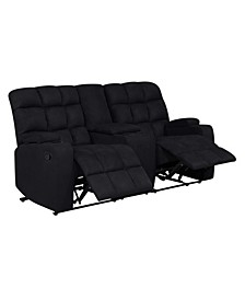 ProLounger 2 Seat Tufted Recliner Loveseat with Power Storage Console