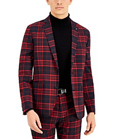 INC Men's Noah Plaid Slim-Fit Blazer, Created for Macy's