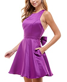 Juniors' Bow-Back Party Dress
