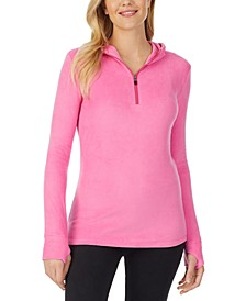 Fleece Long-Sleeve Half-Zip Hoodie