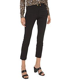 MICHAEL Michael Kors Plus Size Stretch Button Pants