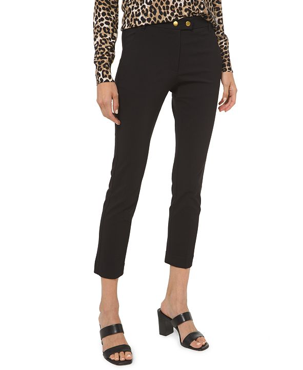 Michael Kors Plus Size Stretch Button Pants