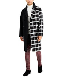 INC Men's Half Plaid Topcoat, Created for Macy's
