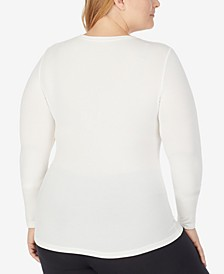 Plus Size Softwear Long-Sleeve V-Neck Top