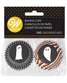 Halloween Ghosts Mini Baking Cups, Set of 100