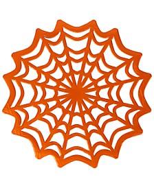 Foil Spider Web Doilies, Set of 10