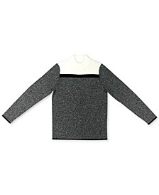 Cotton Colorblocked Mock-Neck Sweater, Created for Macy's