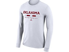 Oklahoma Sooners Men's Dri-Fit Cotton Icon Wordmark Long Sleeve T-Shirt