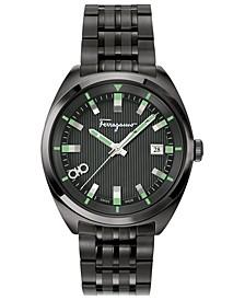 Men's Swiss  Evolution Black-Tone Stainless Steel Bracelet Watch 40mm
