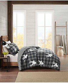 Flannel Full/Queen Comforter Deer Mini Set