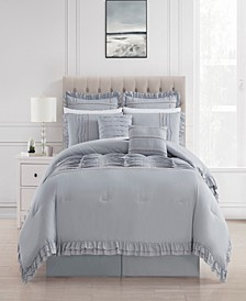 Yvette 8 Piece Queen Comforter Set