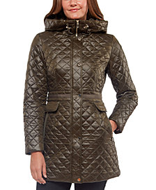 Kate Spade New York Hooded Quilted Coat