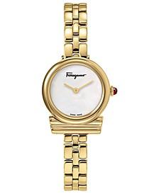 Women's Swiss Gancini Gold-Tone Stainless Steel Bracelet Watch 22mm