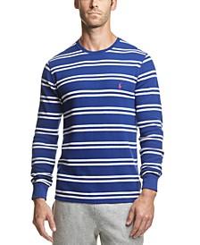 폴로 랄프로렌 스트라이프 와플 니트 파자마 셔츠 Polo Ralph Lauren Mens Striped Waffle-Knit Pajama Shirt