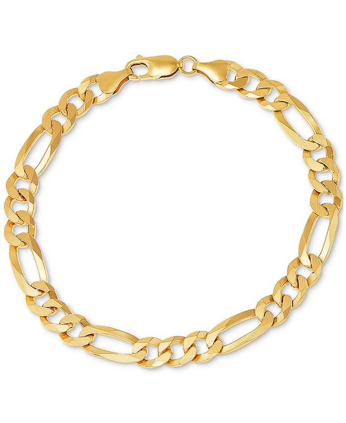Macy's - Men's Figaro Link Bracelet