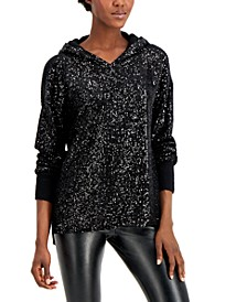 INC Sequin-Front Hoodie, Created for Macy's