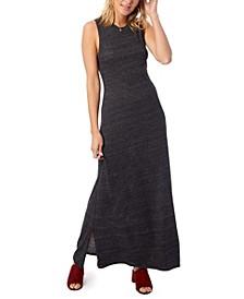 Eco-Jersey Side Slit Women's Maxi Dress