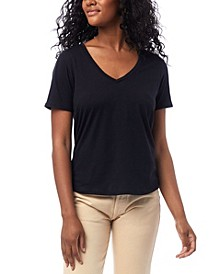 Organic Cotton V-neck Women's T-shirt
