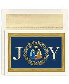 Joy Nativity Holiday Boxed Cards, 16 Cards and 16 Envelopes