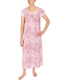 Printed Knit Long Nightgown