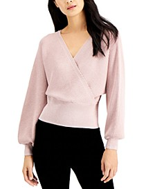 INC Metallic Surplice Sweater, Created for Macy's