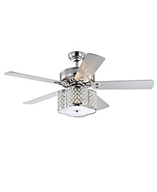 "Cori 52"" 3-Light Indoor Remote Controlled Ceiling Fan with Light Kit"