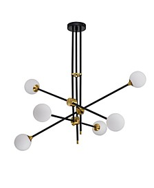"Emillo 41"" 6-Light Indoor Chandelier with Light Kit"