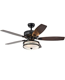 "Ti 52"" 3-Light Indoor Remote Controlled Ceiling Fan with Light Kit"