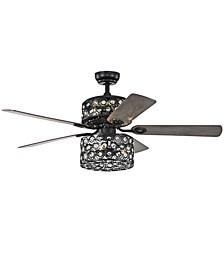 "Haze 52"" 6-Light Indoor Remote Controlled Ceiling Fan with Light Kit"