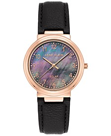Women's Solar Black Apple Peel Vegan Leather Strap 34mm