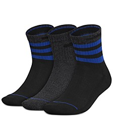 Men's 3-Pk. Stripe High Quarter Socks