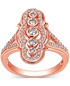 Diamond Openwork Statement Ring (1/2 ct. t.w.) in 14k Rose Gold