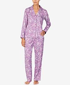 Petite Paisley Print Pajama Set