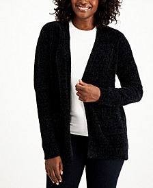 Plus Size Chenille Front-Pocket Cardigan, Created for Macy's