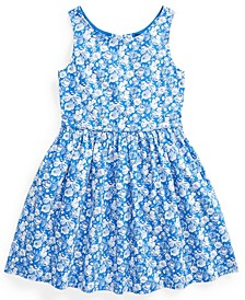 Little Girl Floral Cotton Poplin Dress
