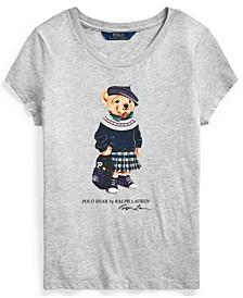 Big Girl Backpack Bear Cotton Tee
