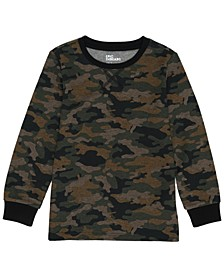 Toddler Boys Crew Neck Basic Camo Thermal T-shirt
