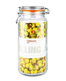 Glass 67.5-Oz. Pickling Jar with Wire Bail Lid and Rubber Seal Gasket