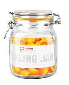Glass 34-Oz. Pickling Jar with Wire Bail Lid and Rubber Seal Gasket
