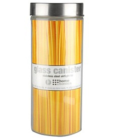 X-Large Round Glass 67-Oz. Canister with Air-Tight Stainless Steel Twist Top Lid
