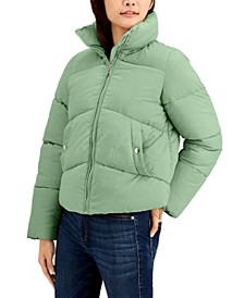 Juniors' Cropped Puffer Coat