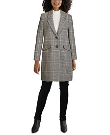Plaid Reefer Coat