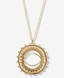"""Gold-Tone Sunburst Long Pendant Necklace, 33-1/2"""" + 2"""" extender"""