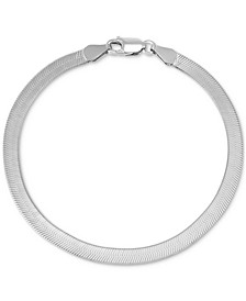 Herringbone Link Chain Bracelet in Sterling Silver, Created for Macy's