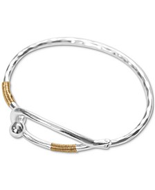 Two-Tone Wire-Wrapped Hinge Cuff Bracelet