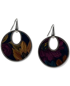 Partricia Nash Silver-Tone Leather Drop Earrings