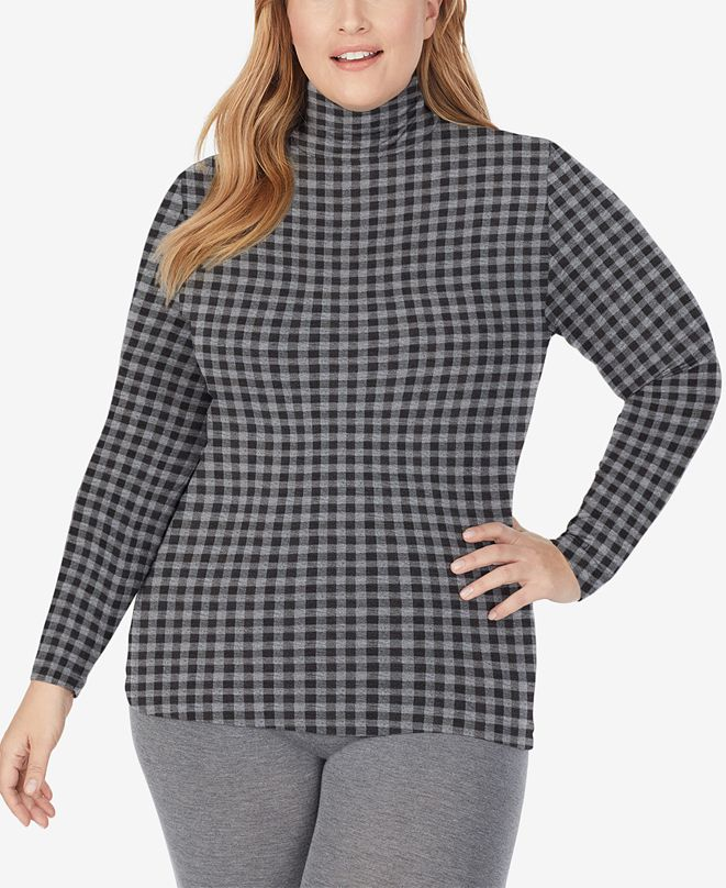 Cuddl Duds Plus Size Softwear With Stretch Long-Sleeve Turtleneck